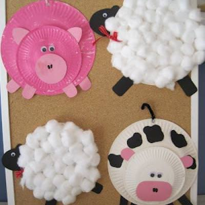 Paper Plate Farm Animals {Animals}