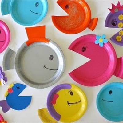 Paper Plate Fish Craft Kids Craft Projects & Paper Plate Fish Craft Kids Craft Projects | Tip Junkie