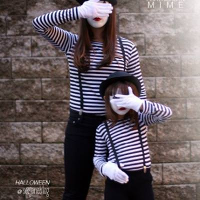 Partners In Mime Costume {homemade halloween costumes}   Tip Junkie