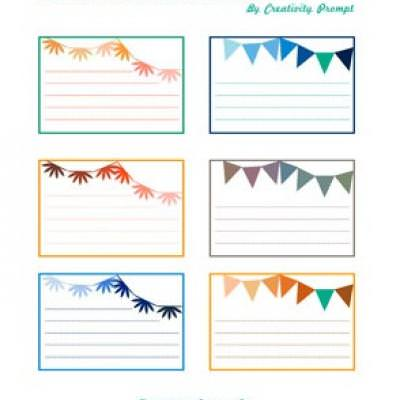 Party Themed Journaling Cards