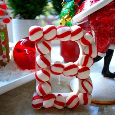 Peppermint Candy Monogram Ornament {Christmas Ornament}
