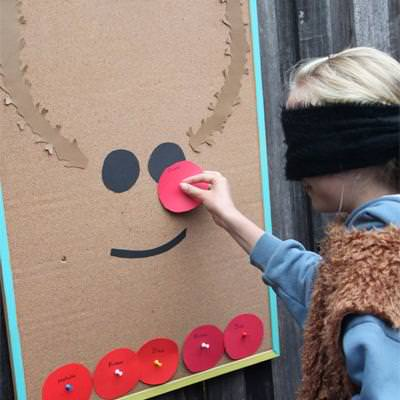 Pin the Nose on the Reindeer {Christmas Party Games}