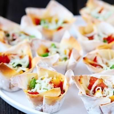 Pizza Cups {Appetizers}