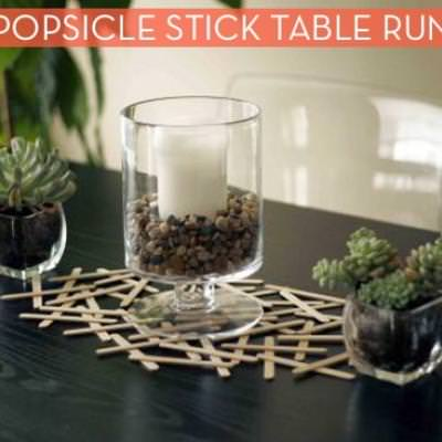 Popsicle Stick Table Runner {Table Accents}