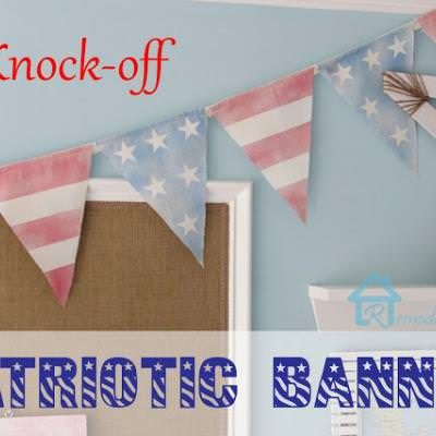 Pottery Barn Inspired Patriotic Banner {4th of July Decor}