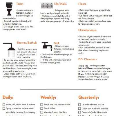 Printable Cleaning Checklists {Printables}