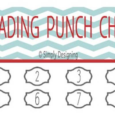 Printable Reading Punch Cards