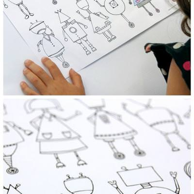 Printable Robot Coloring Page {Coloring Pages}