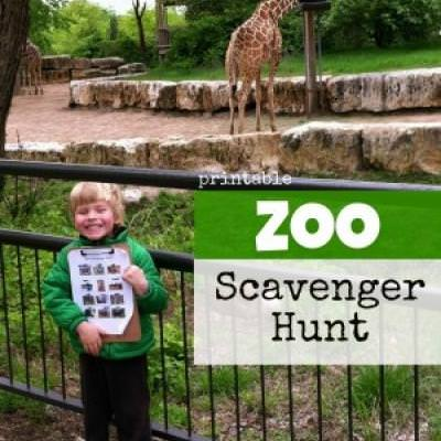 Printable Zoo Scavenger {Outing Ideas}
