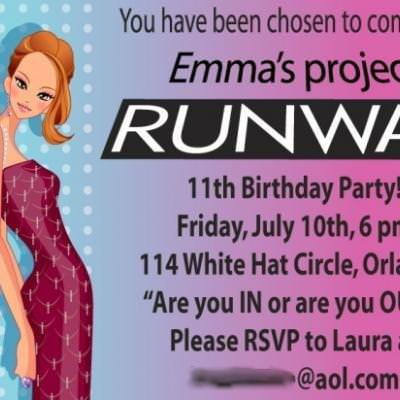 Project Runway Birthday Party {Tween Girl Birthday Party Theme Idea}