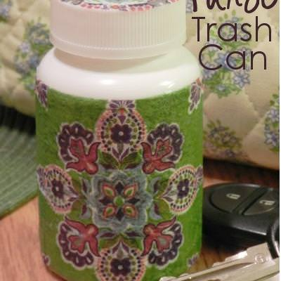 Purse Trash Can {How-To}