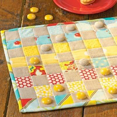 Quilted Checker Board {Game Patterns}