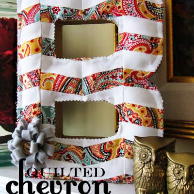 Quilted Chevron Letter Tutorial {Intermediate Quilting}