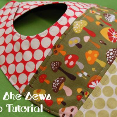 Quilted Patchwork Bib Pattern and Tutorial {Baby}
