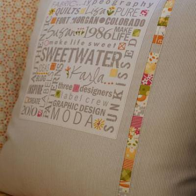 Quilted Pillow with Meaning {Pillows}