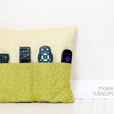 Remote Control Pocketed Pillow {Pillows}