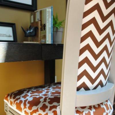 Reupholstered Side Chair Tutorial {Occasional Chairs}