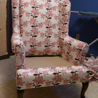 Reupholstering 101 {Occasional Chairs}