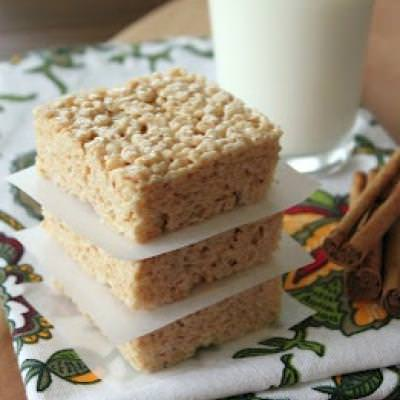 Rice Krispies with Browned Butter And Cinnamon Spices