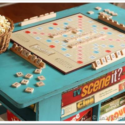 Rolling Game Table DIY {Games}