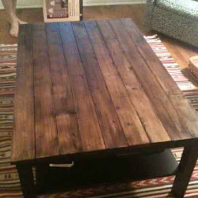 Rustic Wood Coffee Table DIY {Coffee & Side Tables}