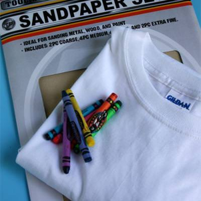 Sandpaper Printed T-Shirt {Coloring Project}