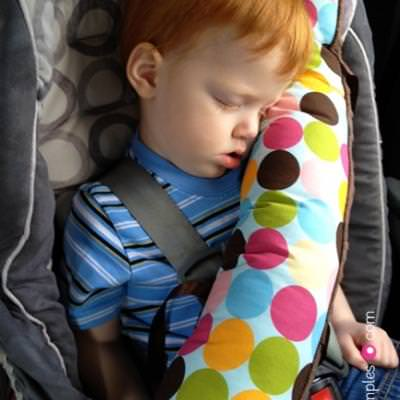 Seat Belt Pillow {Travel Patterns}