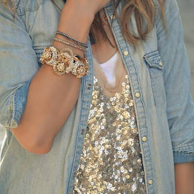 Sequins and Chambray {Outfit Ideas}