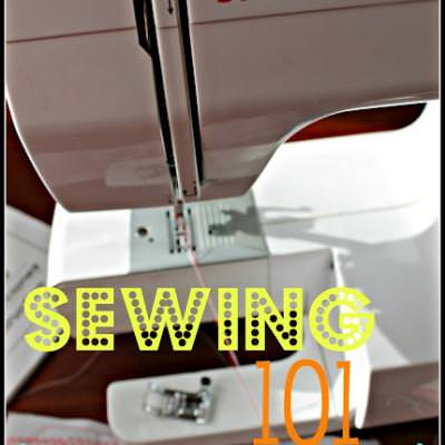 Sewing Machine 101 {Sewing Tips}