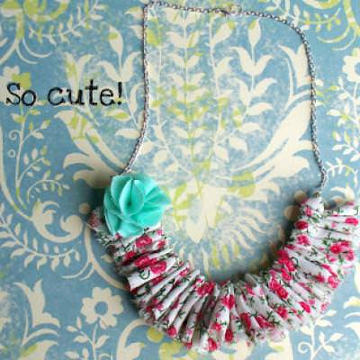 Shabby Chic Ruffle Necklace DIY {Silk}