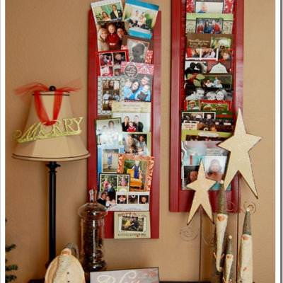 Shutter Christmas Card Display {DIY Christmas Decor}