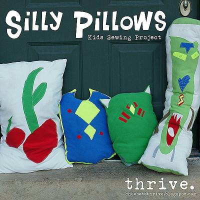 Silly Pillows Sewing Project {Kids Sewing}