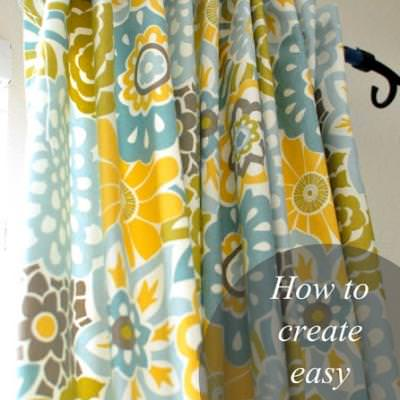 Simple Tab-Top Curtains {Curtains}