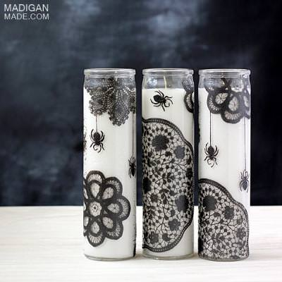 Simple Wicked Painted Candles {make Halloween decorations}