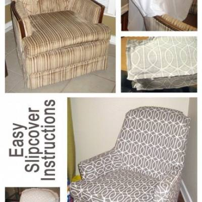 Slipcover Instructions {Slipcovers}