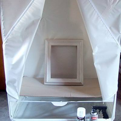 Spray Painting Tent {DIY Tips and Tricks}
