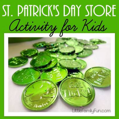 St. Patrick's Day Green Store {St. Patrick's Day Activities}