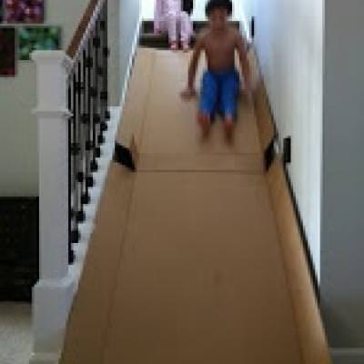 Stairway Slide {Indoor Play}