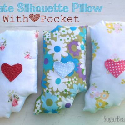 State Silhouette Pillow {diy}