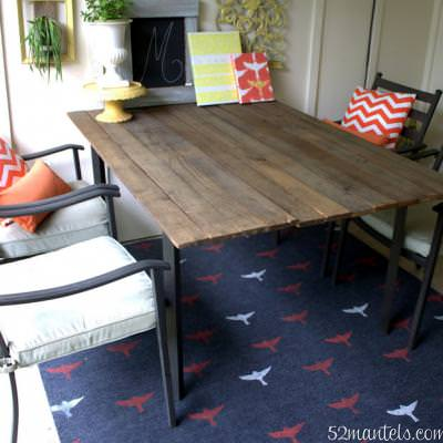 Stenciled Outdoor Rug {Rugs}