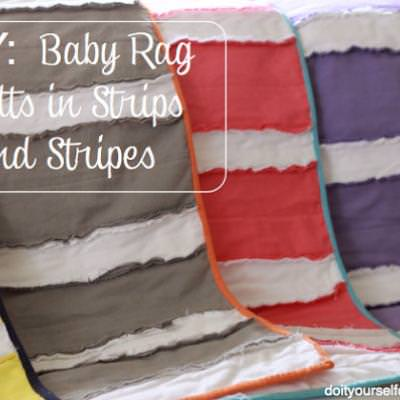 Stripped Baby Rag Quilt {Baby Quilt Ideas}