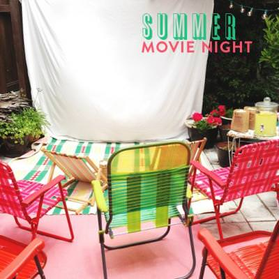 Summer Movie Night {summer party themes}