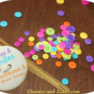 Teaching Fine Motor Skills with Buttons {Fine Motor Skills}