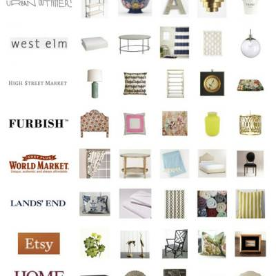 Ten Sources For Inexpensive Home Decor {Resources}