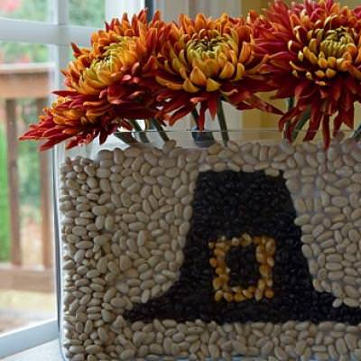 Thanksgiving Pilgram Hat Centerpiece {Floral Designs}