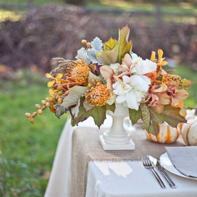 Thanksgiving Table Centerpieces {Floral Designs}