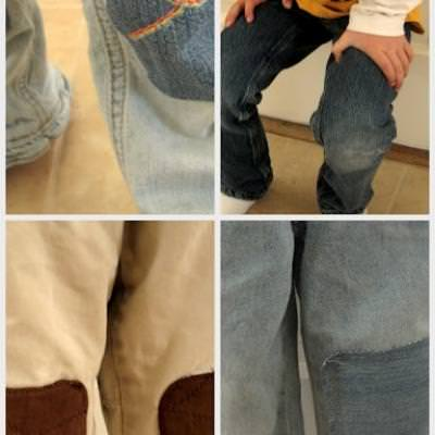 The Cute Way to Patch Pants {Mending}