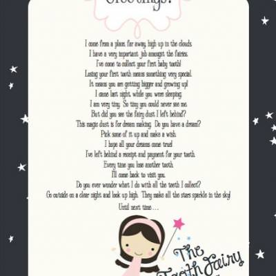 Tooth fairy letter free printable tip junkie for Free printable tooth fairy letter template