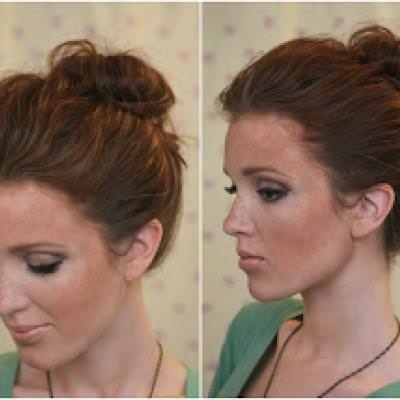 Top Knot Up Do {Hairstyles}