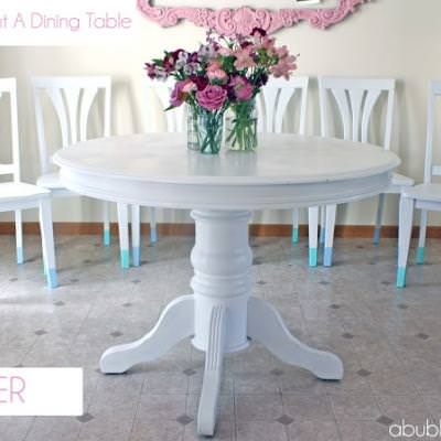 Trendy Dining Room Table and Chairs Makeover {Dining Chairs}